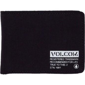 Volcom Black Spark 3 Fold Black Wallet