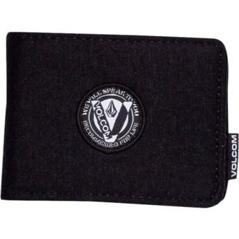 Volcom Black Woolstripe Black Wallet