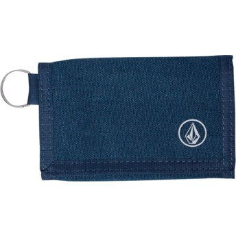 Volcom Navy Green Full Stone Cloth Grey Wallet