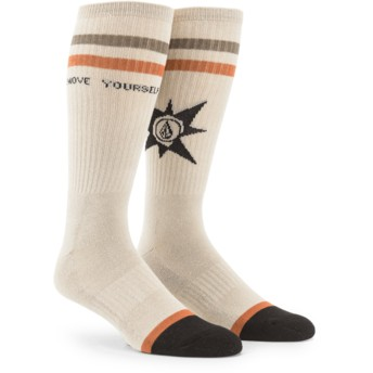 Volcom Feather Grey A.P. Beige Socks