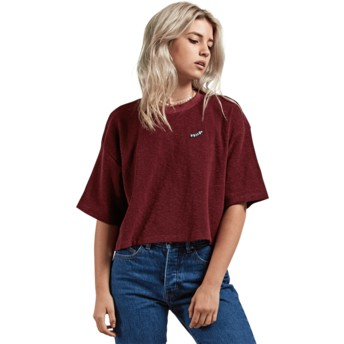 Volcom Burgundy Recommended 4 Me Red T-Shirt