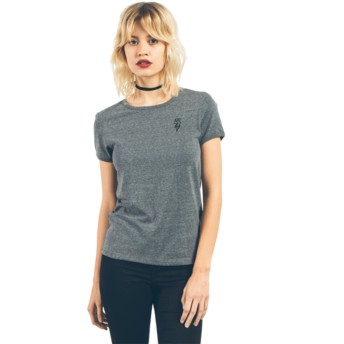 Volcom Charcoal Stayin High Ringer Grey T-Shirt