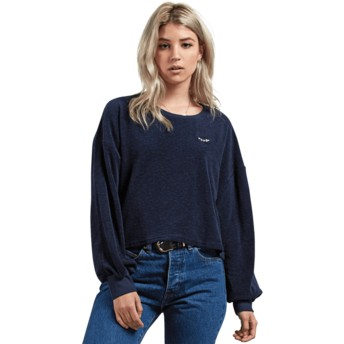 Volcom Sea Navy Recommended 4 Me Navy Blue Long Sleeve T-Shirt