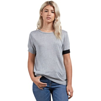 Volcom Heather Grey Simply Stone Grey T-Shirt