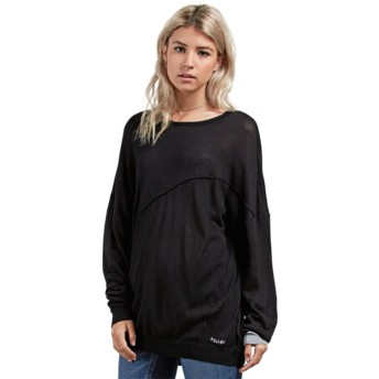 Volcom Black Simply Stone Black Long Sleeve T-Shirt