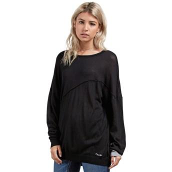 Volcom Black Simply Stone Black Long Sleeve T-Shirt