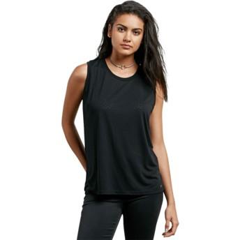 Volcom Black Mix A Lot Black Sleeveless T-Shirt