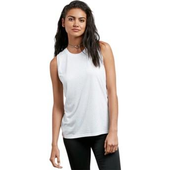 Volcom White Mix A Lot White Sleeveless T-Shirt