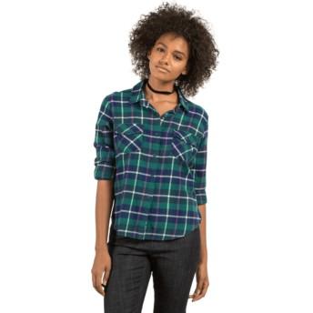 Volcom Midnight Green New Flame Green Long Sleeve Shirt