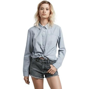 Volcom Cham Stripe Blue Long Sleeve Shirt
