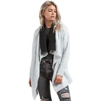Volcom Heather Grey Cold Band Wrap Grey Sweater