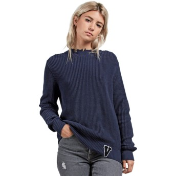 Volcom Sea Navy Snatch Navy Blue Sweater