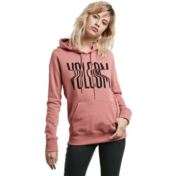 Volcom Mauve Stone Hoody Red Hoodie Sweatshirt