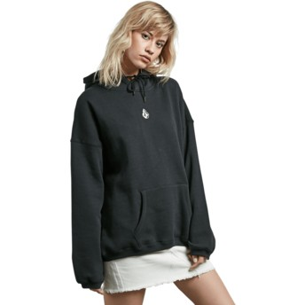 Volcom Black Roll It Up Black Hoodie Sweatshirt