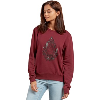Volcom Burgundy Sound Check Red Sweatshirt
