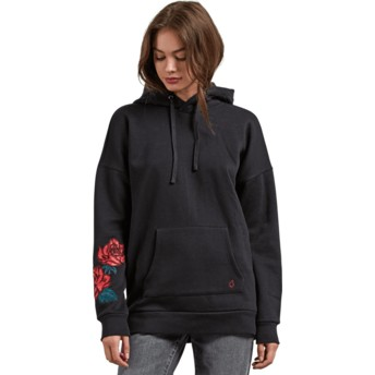 Volcom Black Burned Down Black Hoodie Sweatshirt