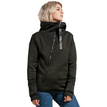 Volcom Black Walk On By Tech Black Zip Through Hoodie Sweatshirt