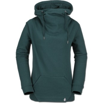 Volcom Evergreen Walk On By High Neck Green Hoodie Sweatshirt