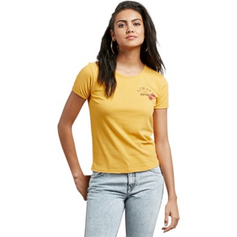 Volcom Citrus Gold Don't Even Trip Yellow T-Shirt