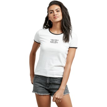 Volcom White Don't Even Trip White T-Shirt