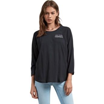 Volcom Black Pop Rocket Black 3/4 Sleeve T-Shirt