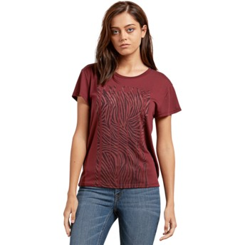 Volcom Burgundy Easy Babe Rad 2 Red T-Shirt