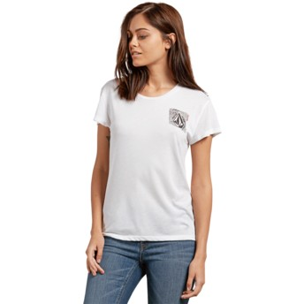 Volcom White Easy Babe Rad 2 White T-Shirt
