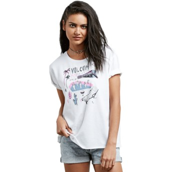 Volcom White Ride The Stone White T-Shirt