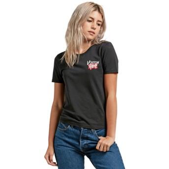 Volcom Black Skullactic Wave Black T-Shirt