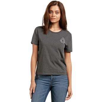 Volcom Charcoal Skullactic Wave Black T-Shirt