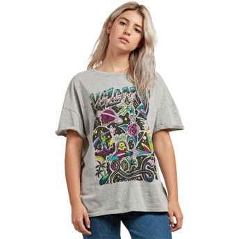 Volcom Heather Grey Stone Splif Grey T-Shirt
