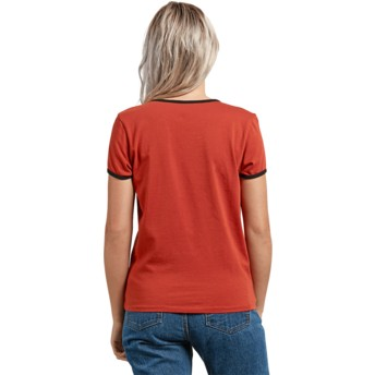 Volcom Copper Keep Goin Ringer Red T-Shirt