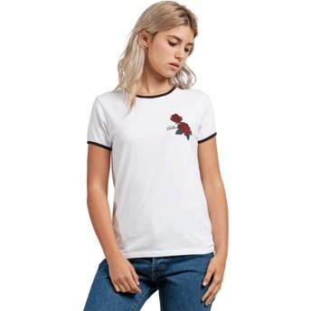 Volcom White Keep Goin Ringer White T-Shirt