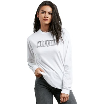 Volcom White What A Trip White Long Sleeve T-Shirt