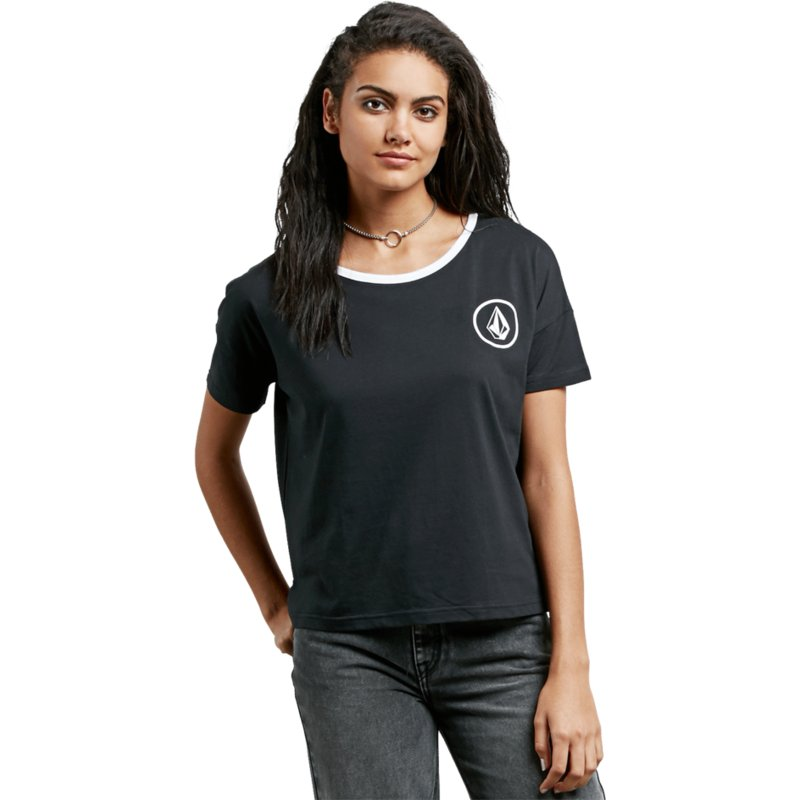 d9bf5f4a Volcom Black Simply Stoned Black T-Shirt