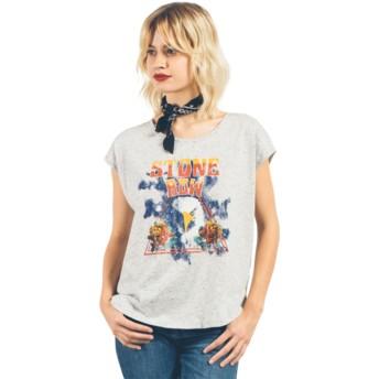 Volcom Star White Stay Cosmic Ct Grey T-Shirt