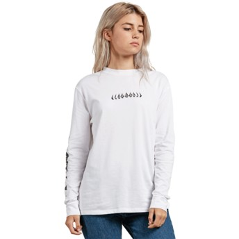 Volcom White Simply Stoned White Long Sleeve T-Shirt
