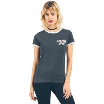 Volcom Black Lets Go Ringer Black T-Shirt
