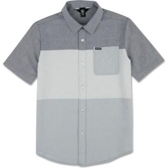 Volcom Youth Deep Blue Crestone Blue Short Sleeve Shirt