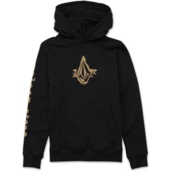 Volcom Youth Black Supply Stone Black Hoodie Sweatshirt