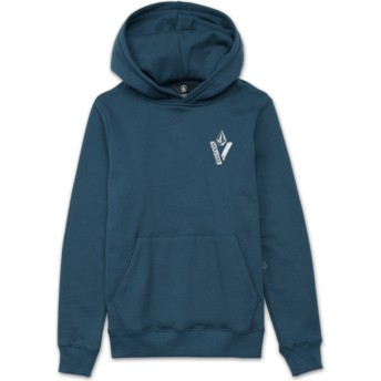 Volcom Youth Navy Green Supply Stone Blue Hoodie Sweatshirt