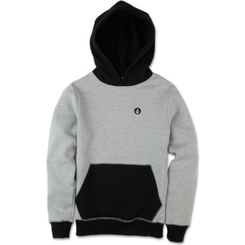 Volcom Youth Grey Single Stone Division Grey Hoodie Sweatshirt