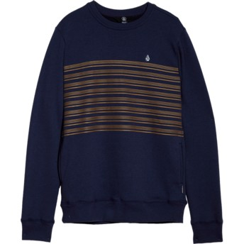 Volcom Youth Deep Blue Threezy Blue Sweatshirt