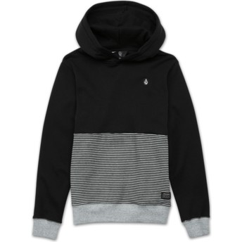 Volcom Youth Black Threezy Black Hoodie Sweatshirt