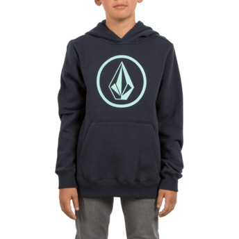 Volcom Youth Navy Stone Navy Blue Hoodie Sweatshirt