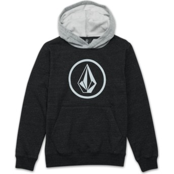 Volcom Youth Sulfur Black Stone Black Hoodie Sweatshirt