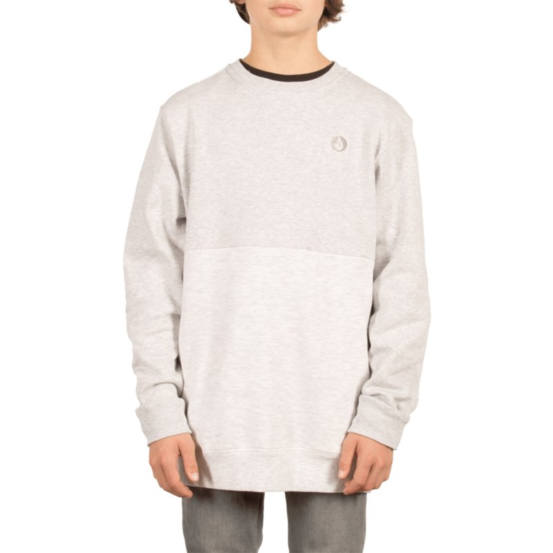 67ea88f8 Volcom Youth Mist Single Stone Division Grey Sweatshirt