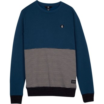 Volcom Youth Navy Green Threezy Blue Sweatshirt