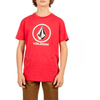 Volcom Youth True Red Circle Stone Red T-Shirt
