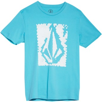 Volcom Youth Blue Bird Pixel Stone Black T-Shirt